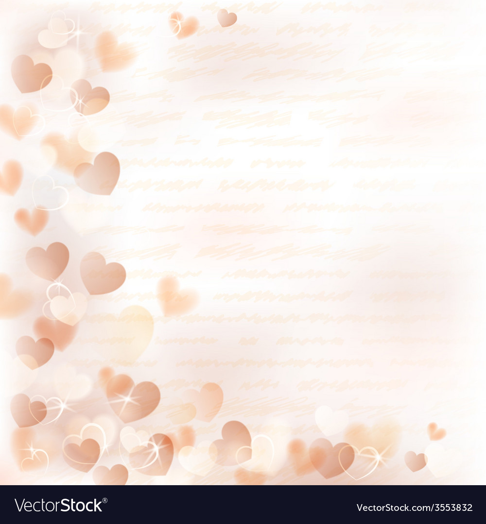 Background with beige hearts vector | Price: 1 Credit (USD $1)