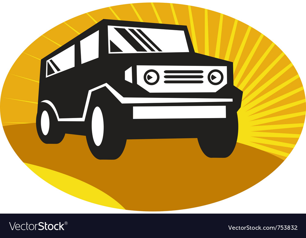 Car sports utility vehicle suv vector | Price: 1 Credit (USD $1)