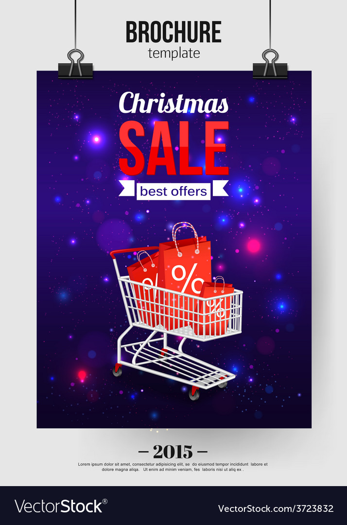Christmas sale shining typographical background vector | Price: 1 Credit (USD $1)