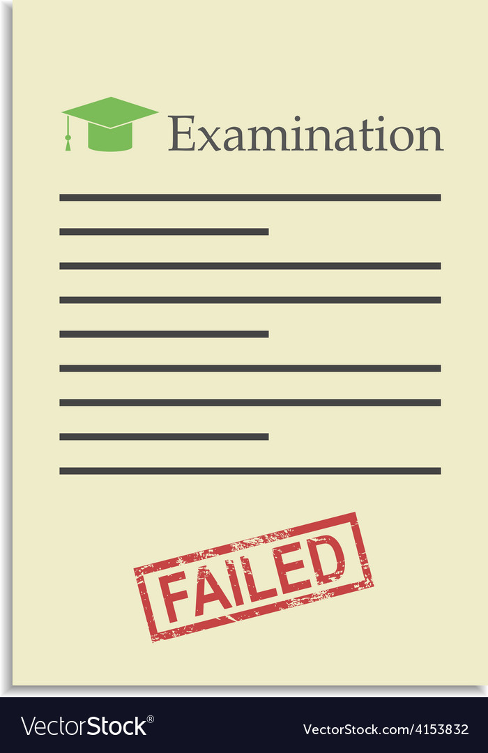 Examination paper with failed stamp vector | Price: 1 Credit (USD $1)
