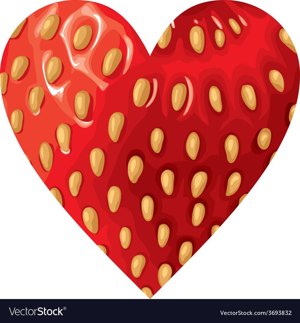 Hearts strawberry vector   Price: 1 Credit (USD $1)