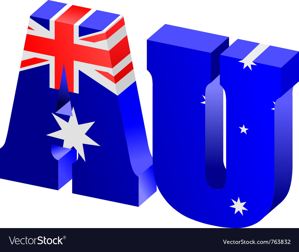 Internet top-level domain of australia vector | Price: 1 Credit (USD $1)