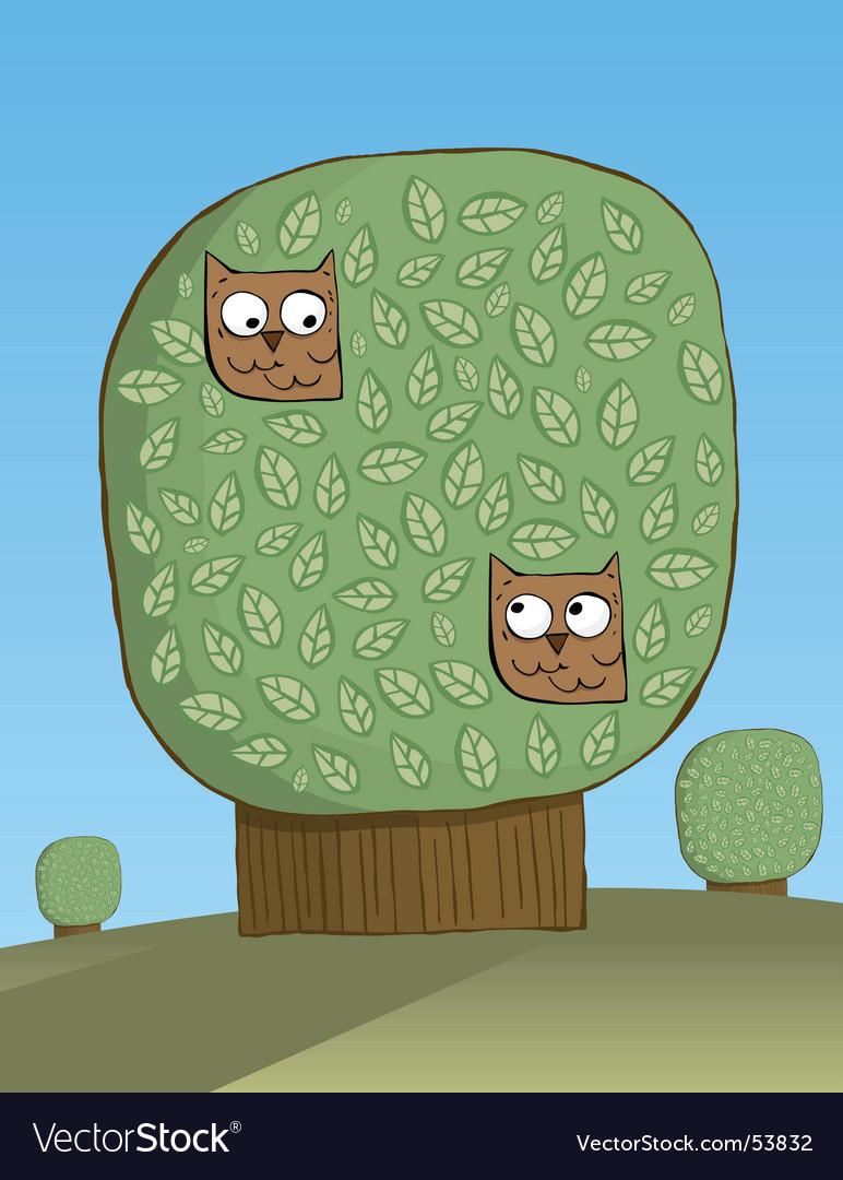 Owls platonic love vector | Price: 1 Credit (USD $1)