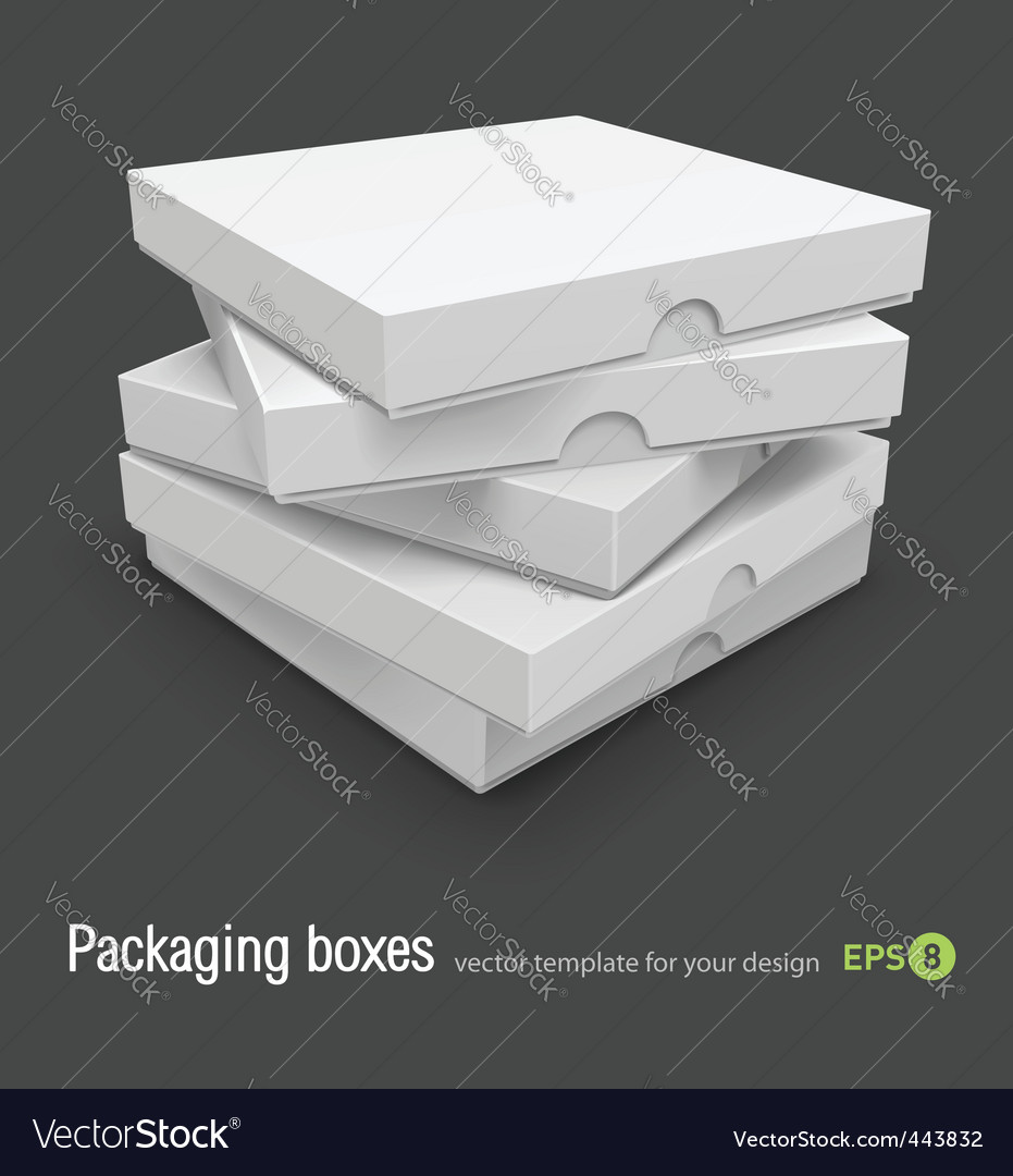 Pizza boxes vector | Price: 1 Credit (USD $1)