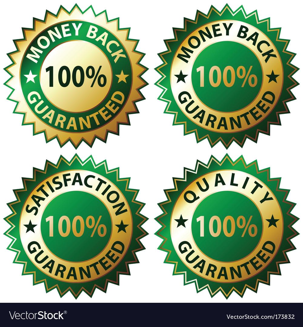 Satisfaction guaranteed vector | Price: 1 Credit (USD $1)