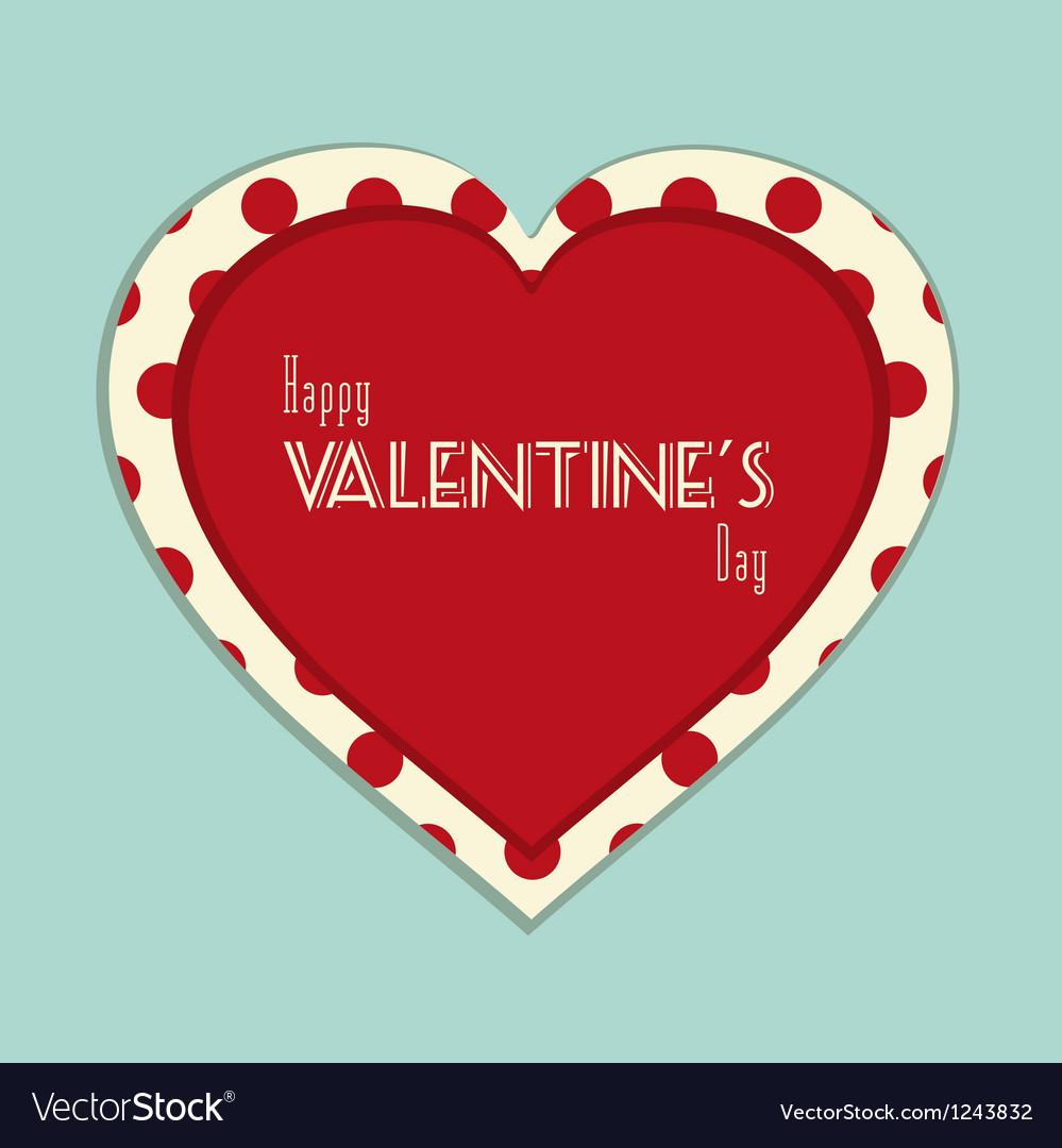 Valentine vintage background vector | Price: 1 Credit (USD $1)