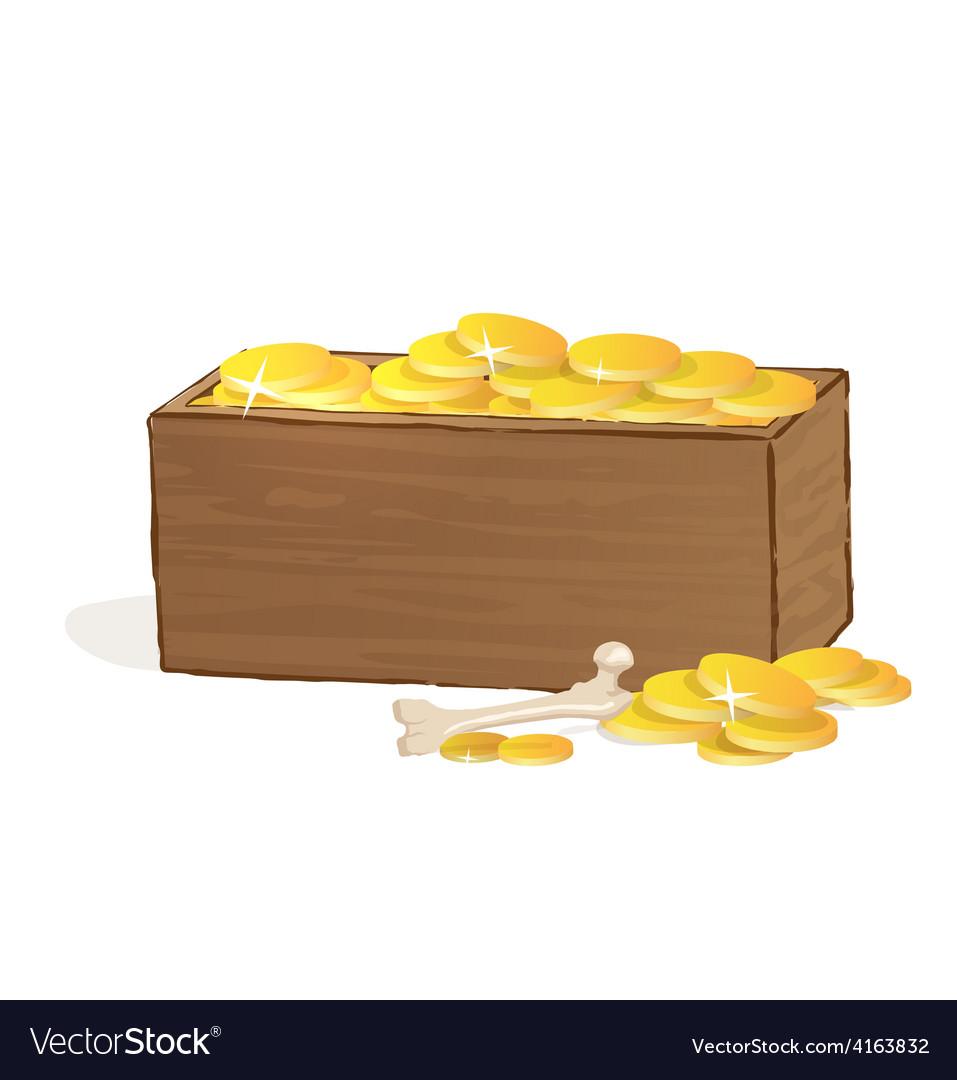 Wooden treasure chest vector | Price: 1 Credit (USD $1)