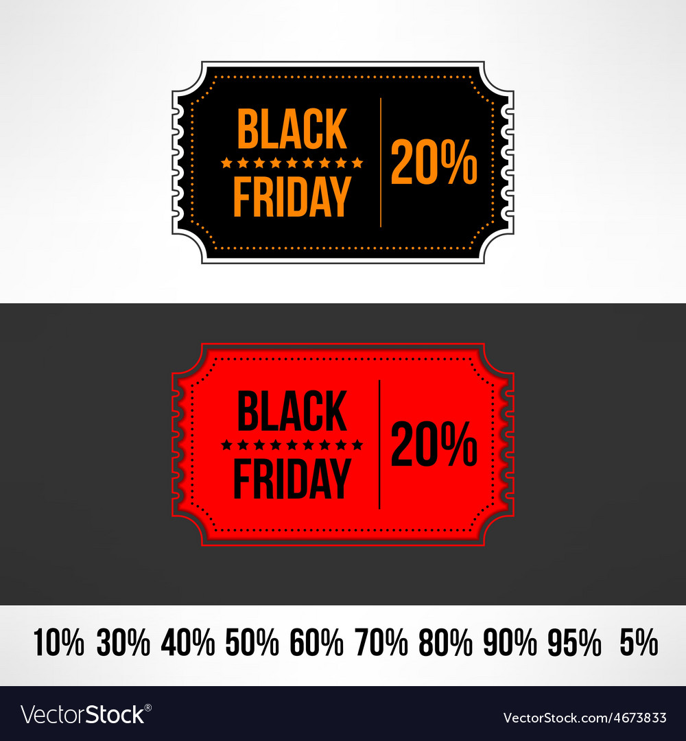 Black friday sale ticket retail discount vector | Price: 1 Credit (USD $1)