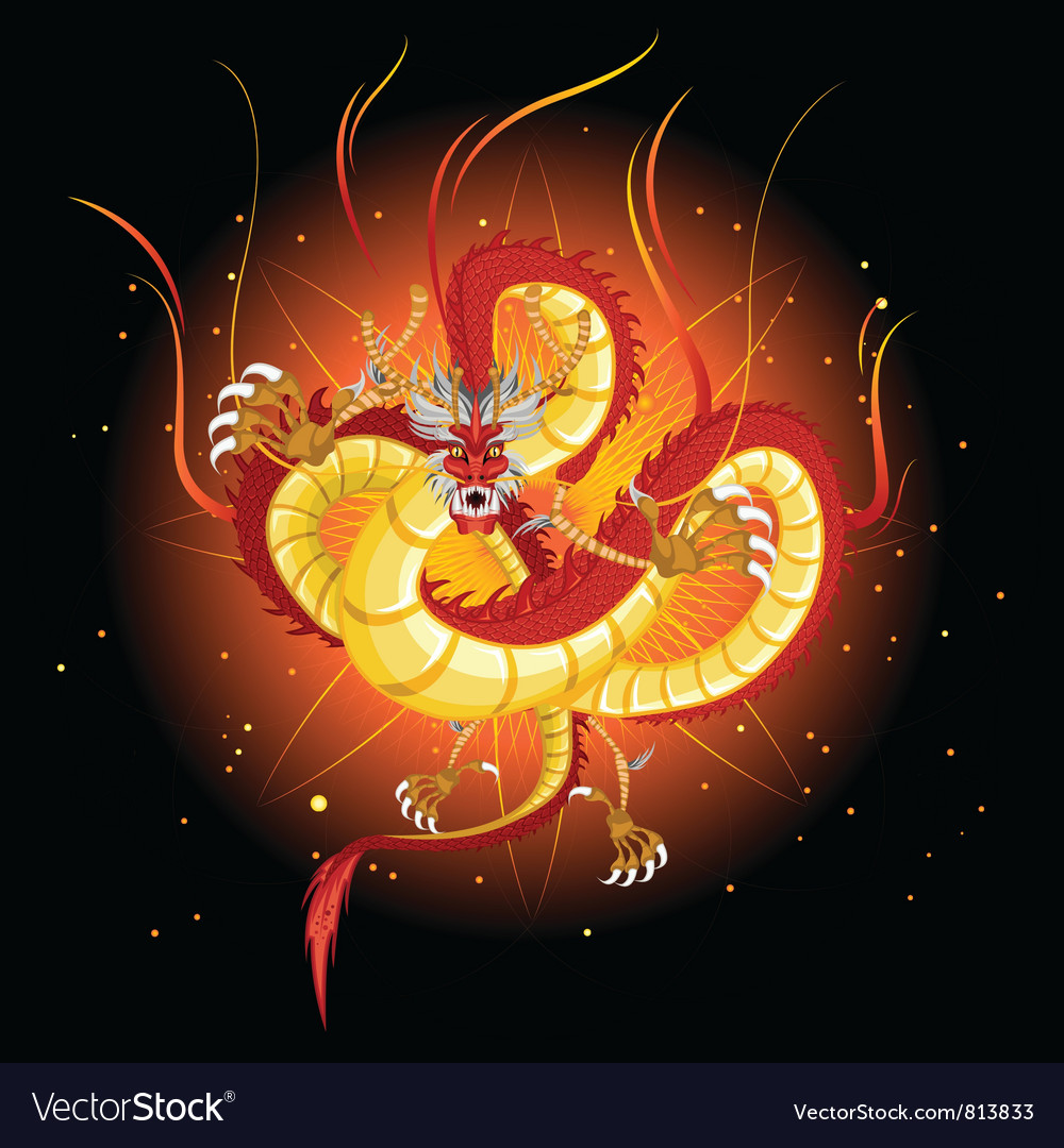 Chinese fire dragon vector   Price: 3 Credit (USD $3)