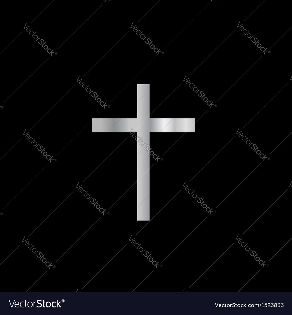 Christianity latin cross vector | Price: 1 Credit (USD $1)