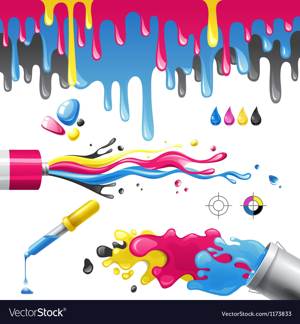 Cmyk splashes vector | Price: 3 Credit (USD $3)