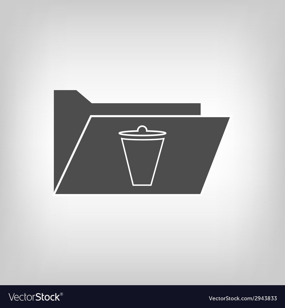 Computer folder with trash bin vector | Price: 1 Credit (USD $1)