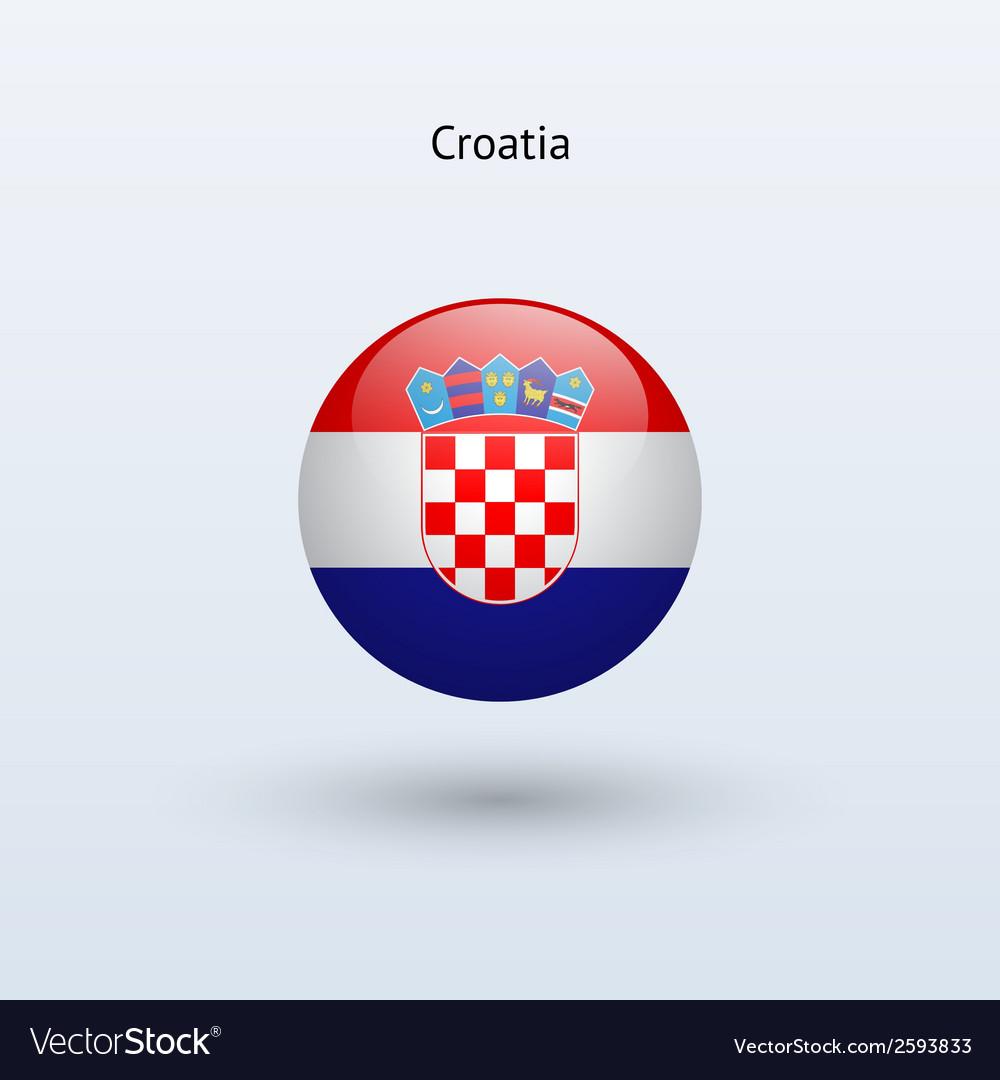 Croatia round flag vector | Price: 1 Credit (USD $1)
