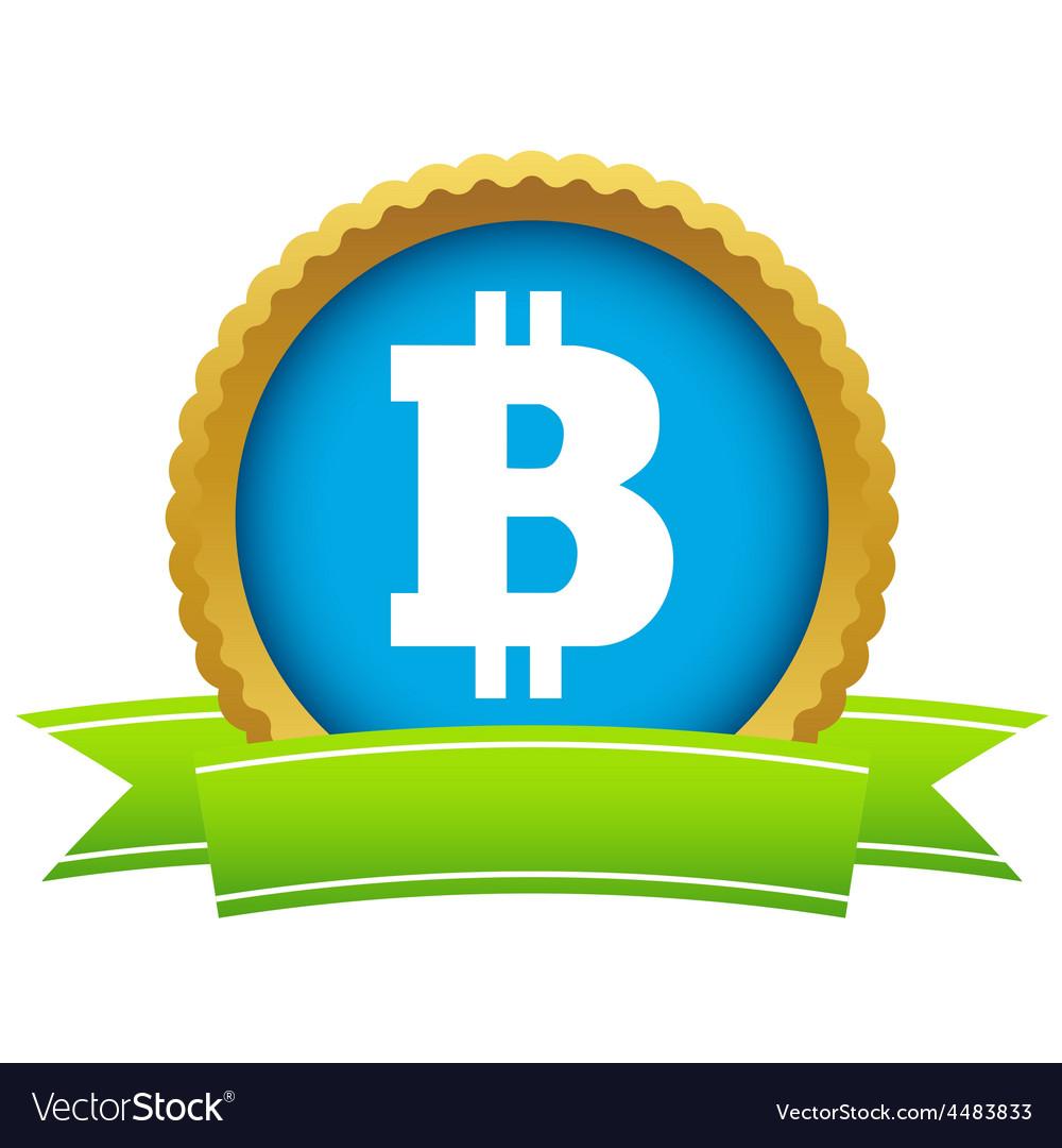 Gold bitcoin logo vector | Price: 1 Credit (USD $1)