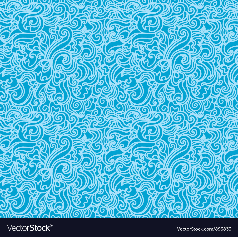 Hand drawn wave pattern vector | Price: 1 Credit (USD $1)