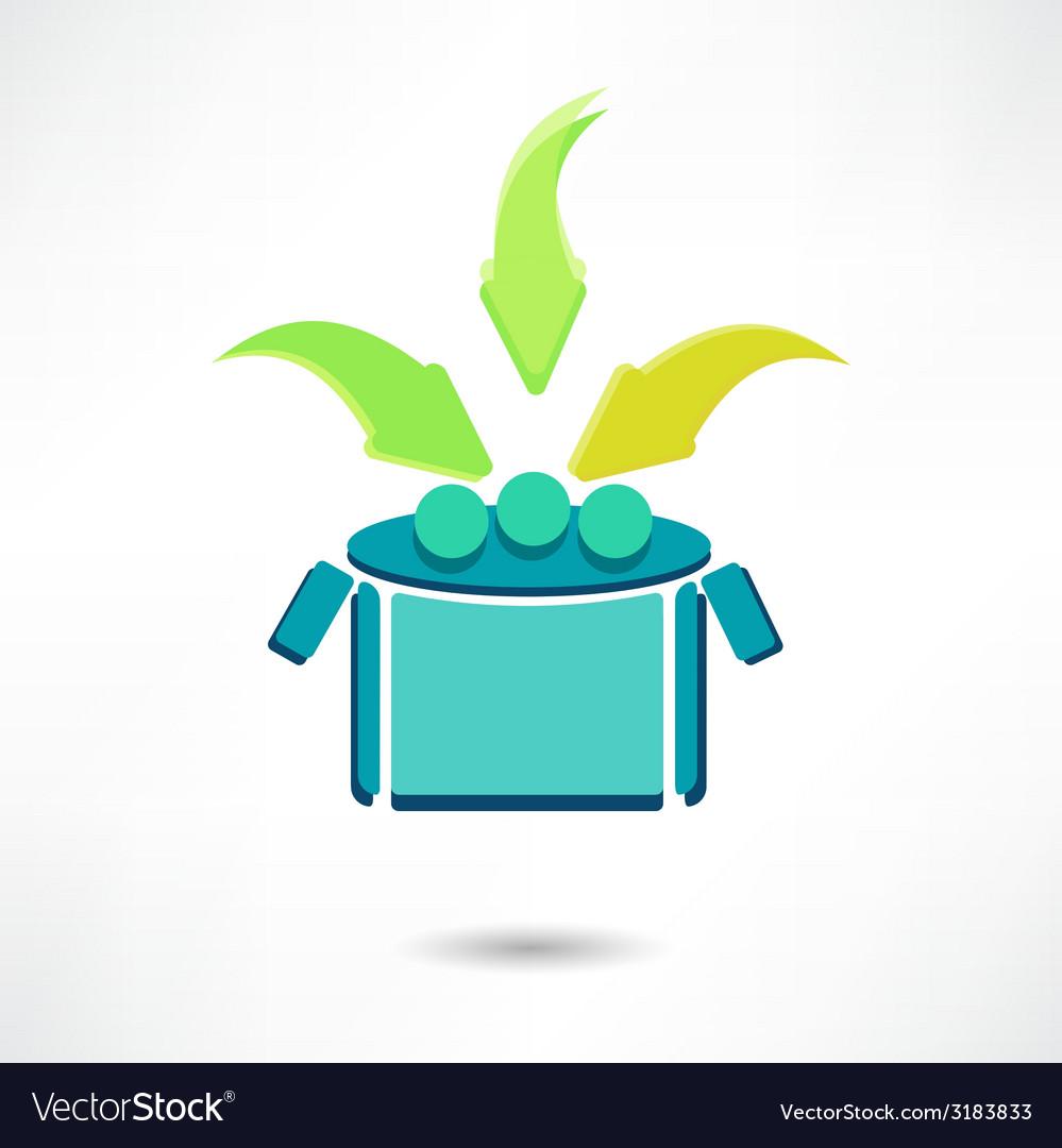 Icon open box vector | Price: 1 Credit (USD $1)