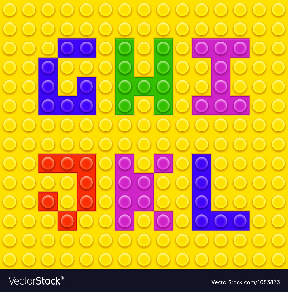 Lego blocks alphabet 2 vector | Price: 1 Credit (USD $1)