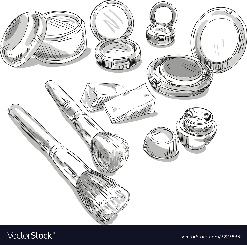 Makeup products drawing vector | Price: 1 Credit (USD $1)