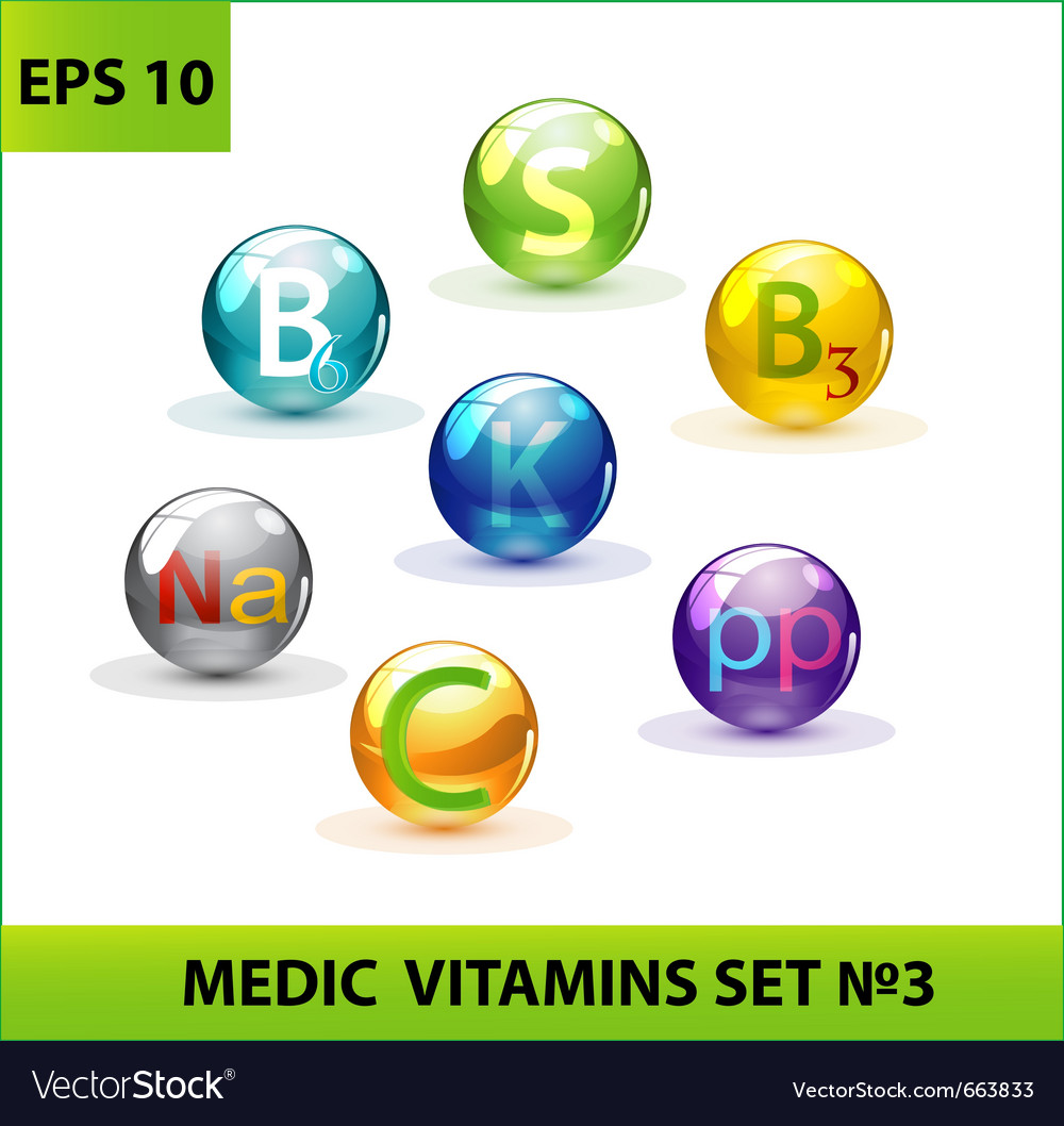Medic pills set vector | Price: 1 Credit (USD $1)