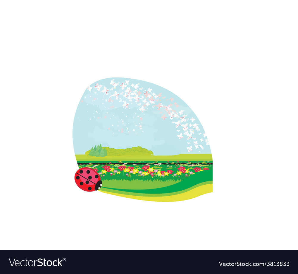 Nature springsummer background - place for text vector | Price: 1 Credit (USD $1)