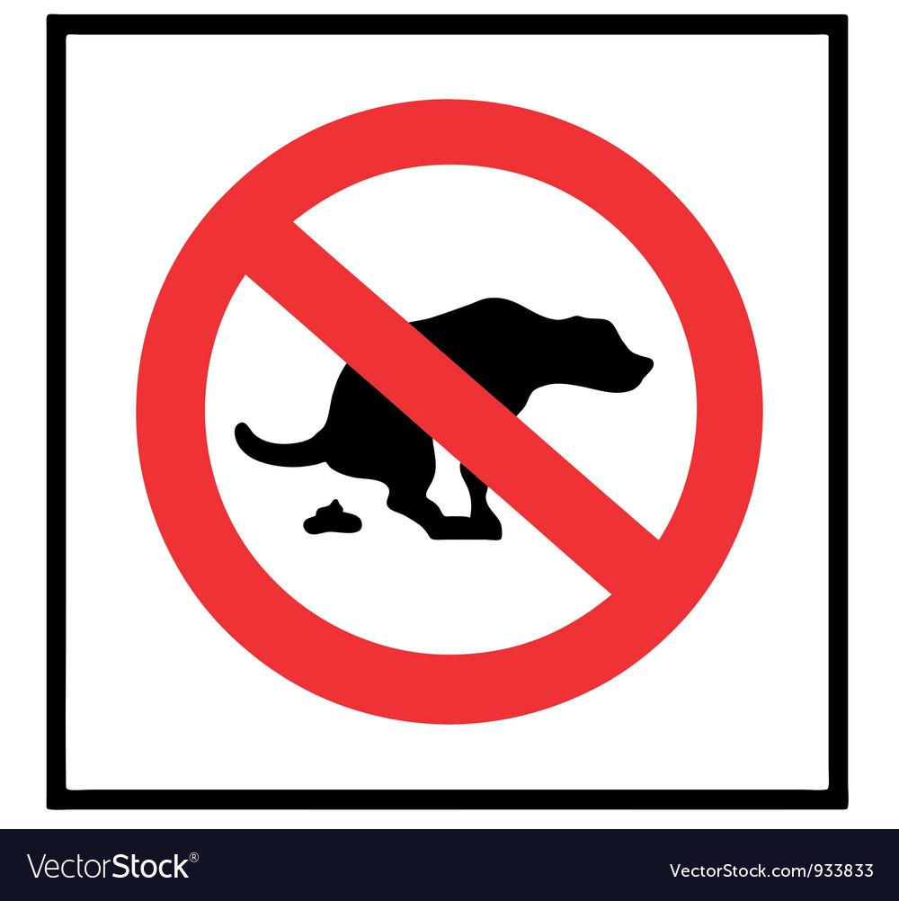 No dog shit icon vector | Price: 1 Credit (USD $1)