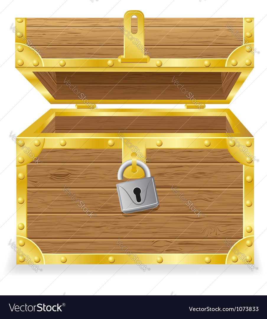 Open antique chest vector | Price: 1 Credit (USD $1)