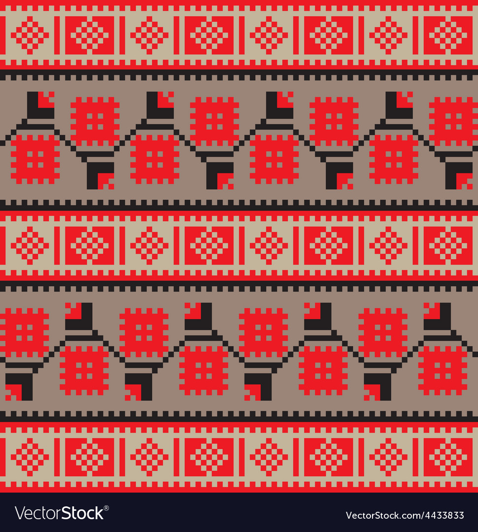 Set of ethnic floral geometric pattern ornament in vector | Price: 1 Credit (USD $1)