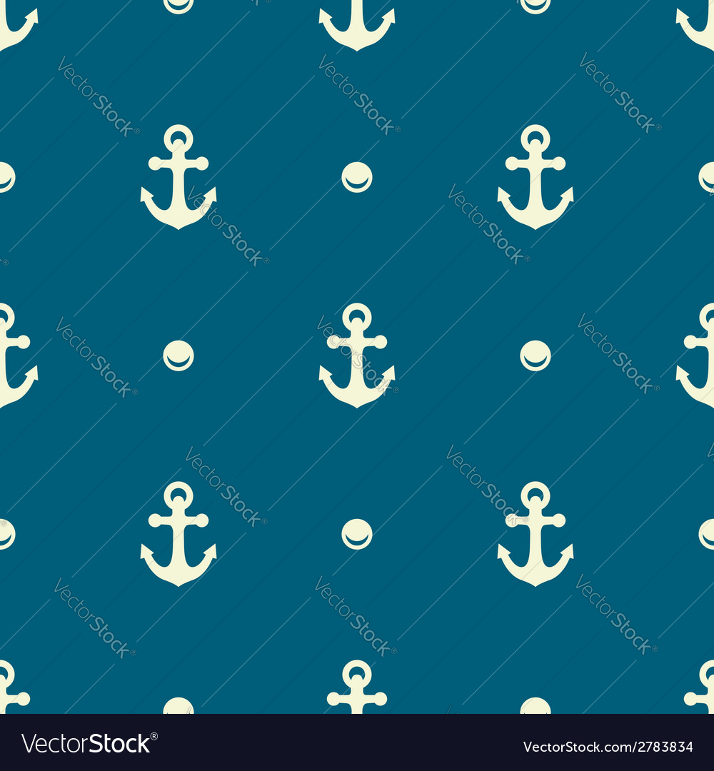 Anchor and pearl pattern vector | Price: 1 Credit (USD $1)