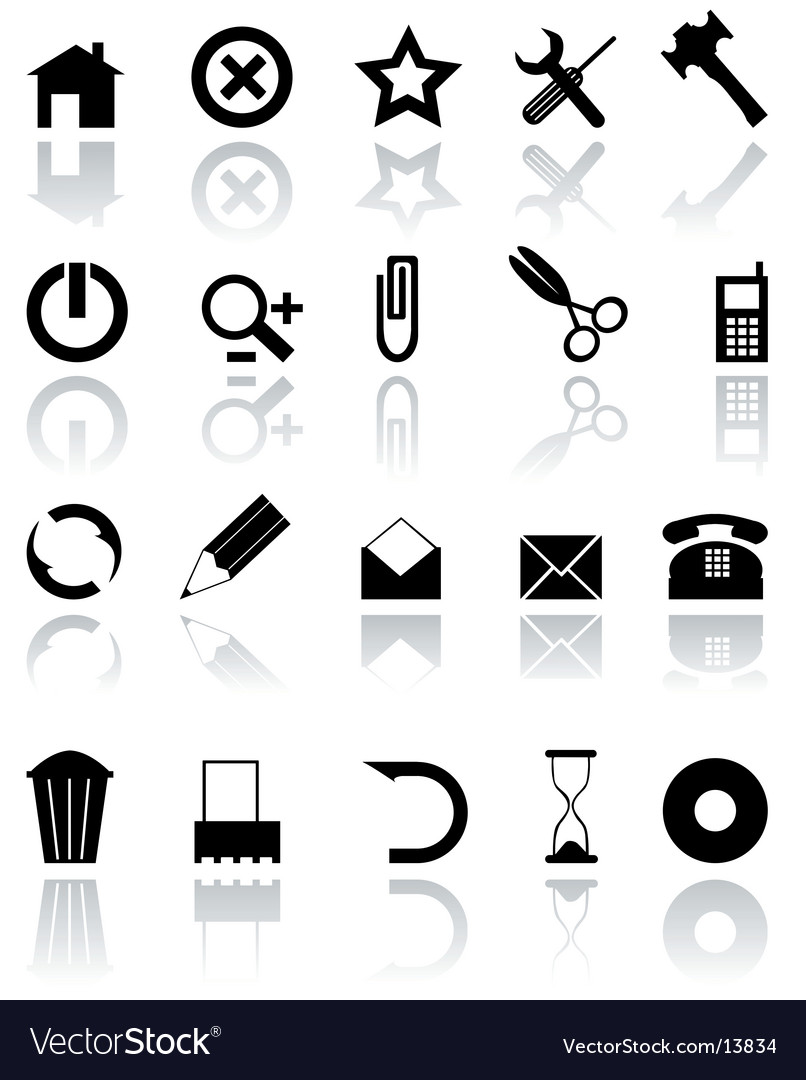Black icons vector | Price: 1 Credit (USD $1)