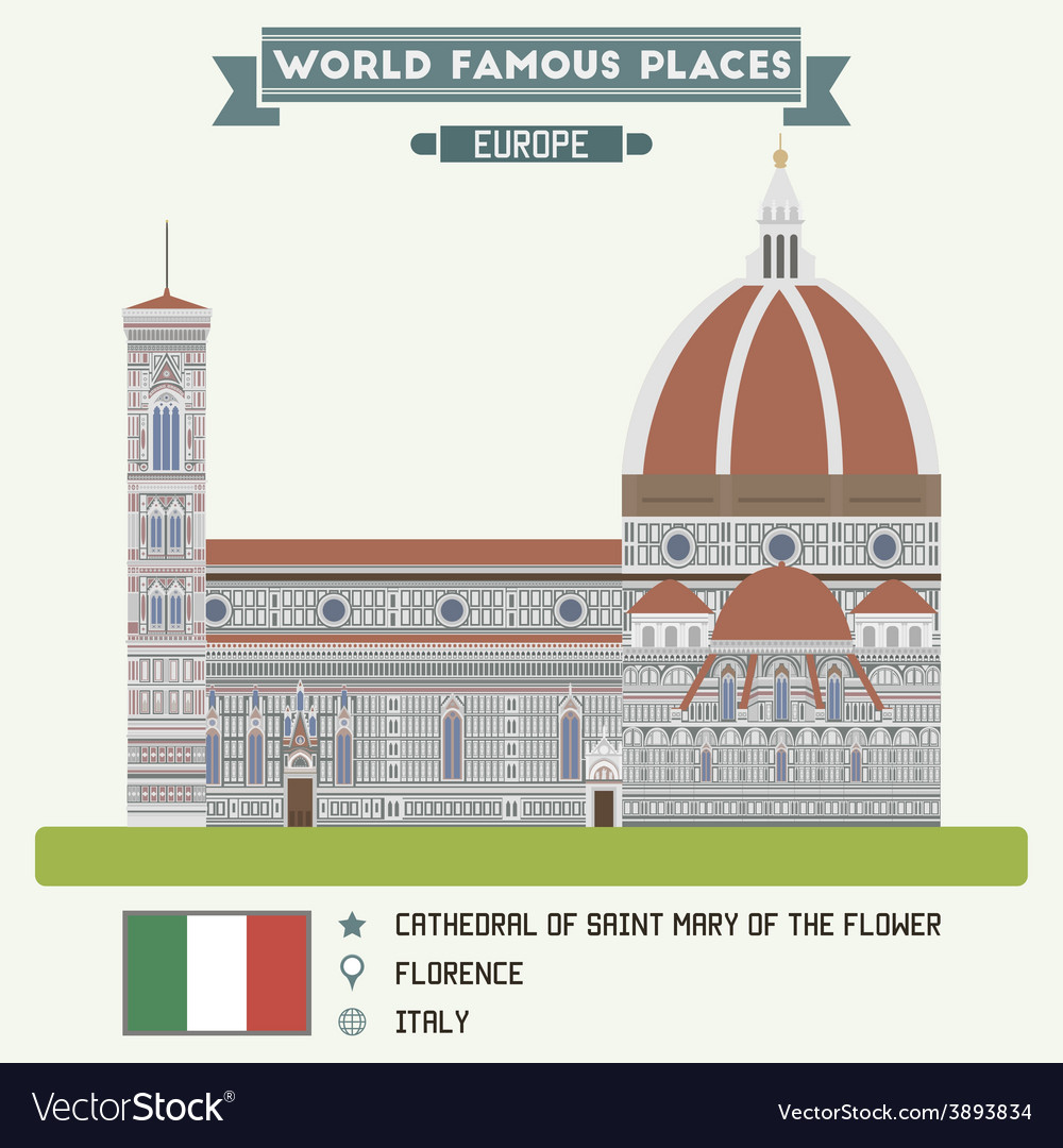 Cathedral of saint mary of the flower florence vector | Price: 1 Credit (USD $1)