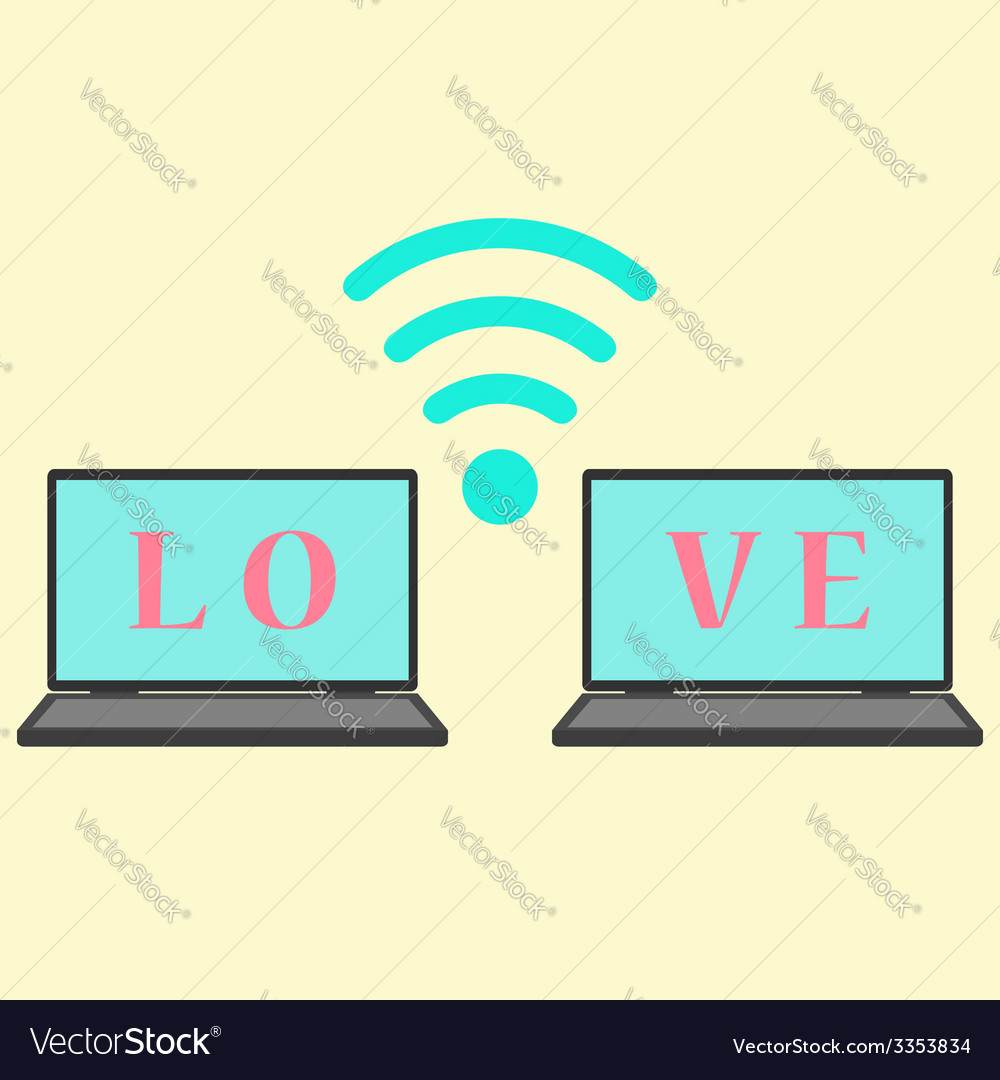 Concept of communication in love vector | Price: 1 Credit (USD $1)