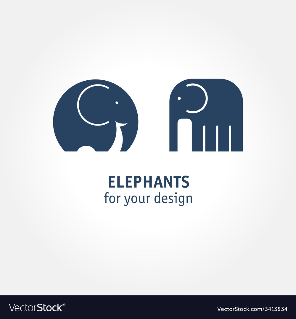 Elephant icons vector | Price: 1 Credit (USD $1)