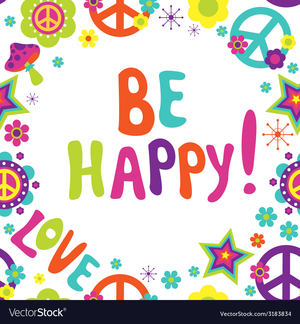 Greeting card be happy vector | Price: 1 Credit (USD $1)