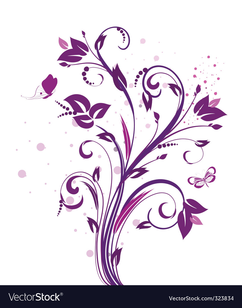 Pattern plum vector | Price: 1 Credit (USD $1)