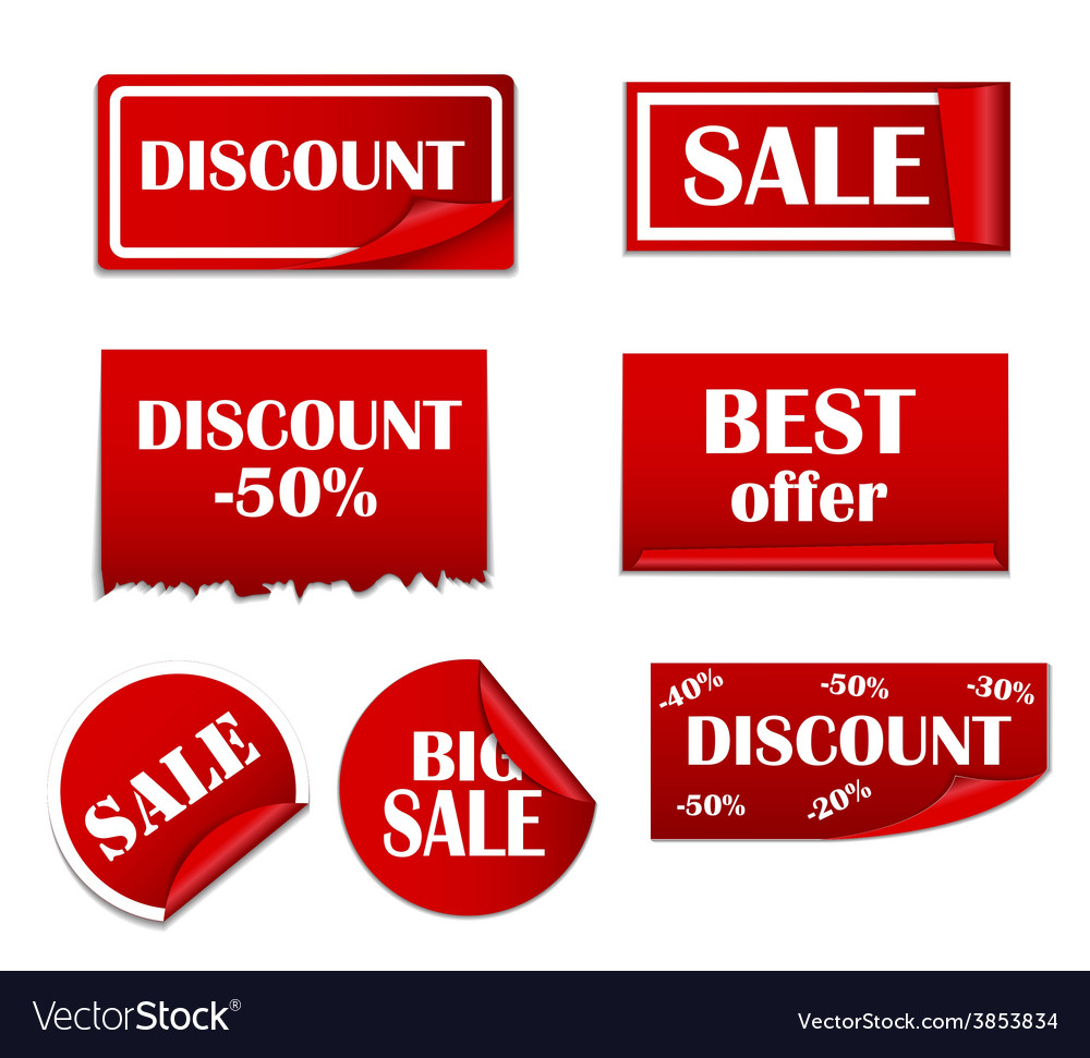 Sale sticker banner template set vector | Price: 1 Credit (USD $1)