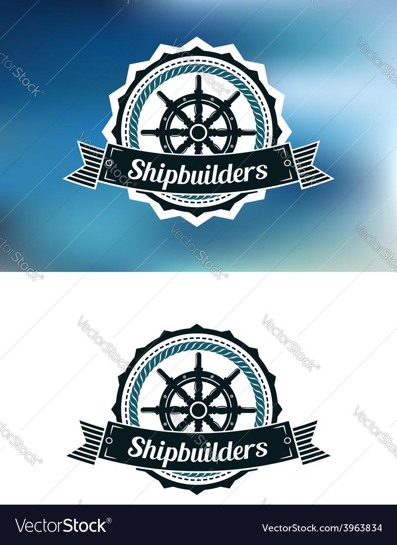 Shipbuilders heraldic banner or emblem vector | Price: 1 Credit (USD $1)