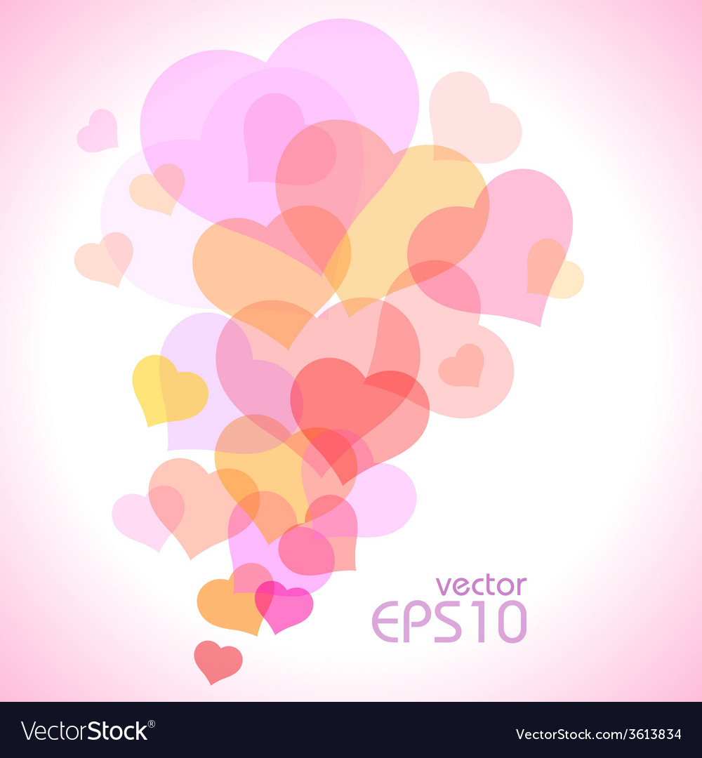 Spot of many hearts vector | Price: 1 Credit (USD $1)