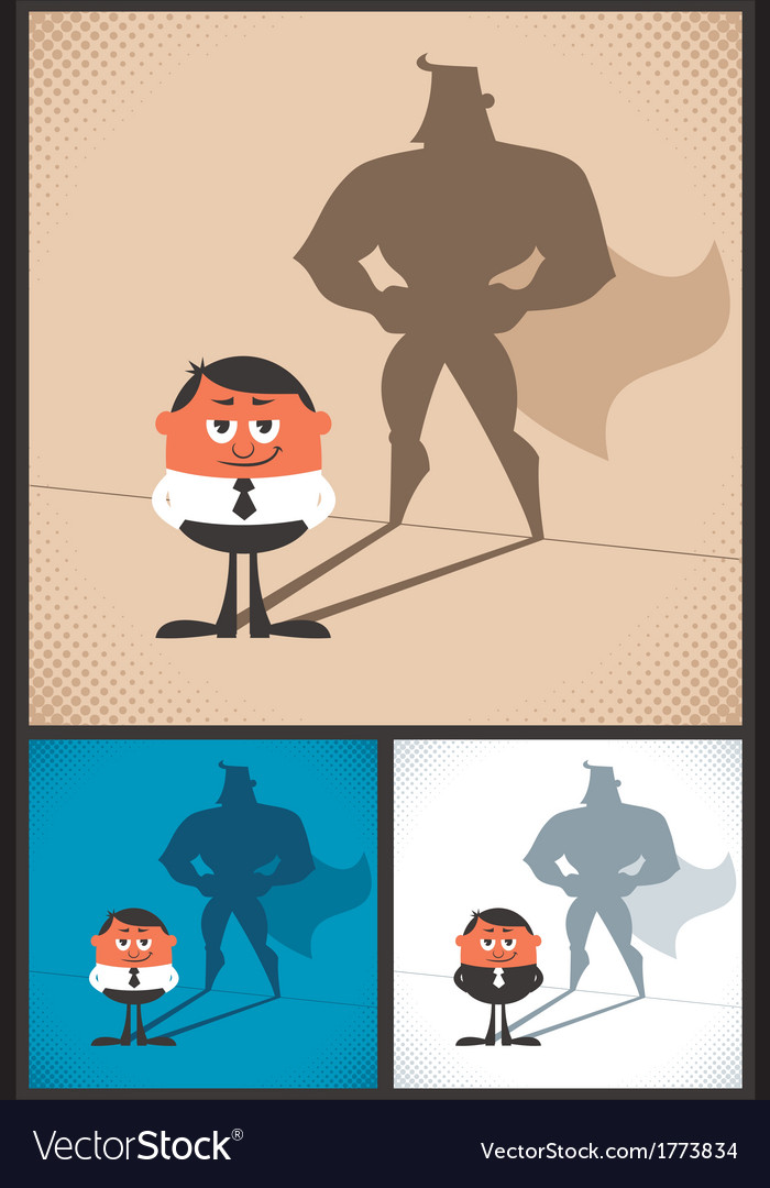 Super businessman vector | Price: 1 Credit (USD $1)