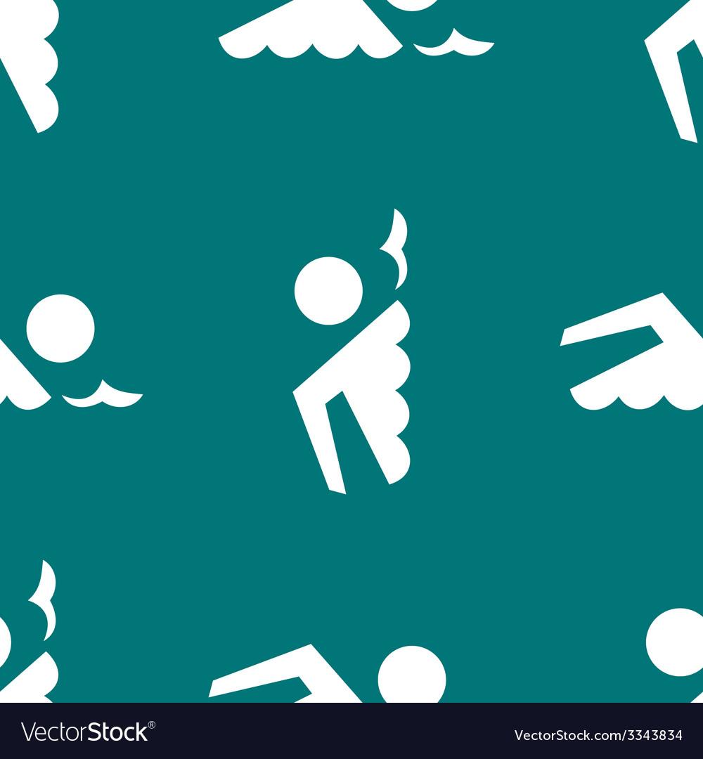 Swimmer pool web icon flat design seamless gray vector   Price: 1 Credit (USD $1)