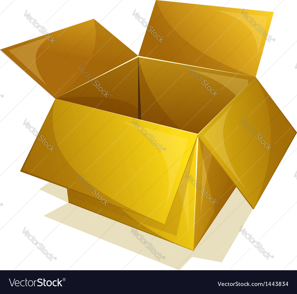 Yellow box vector | Price: 1 Credit (USD $1)