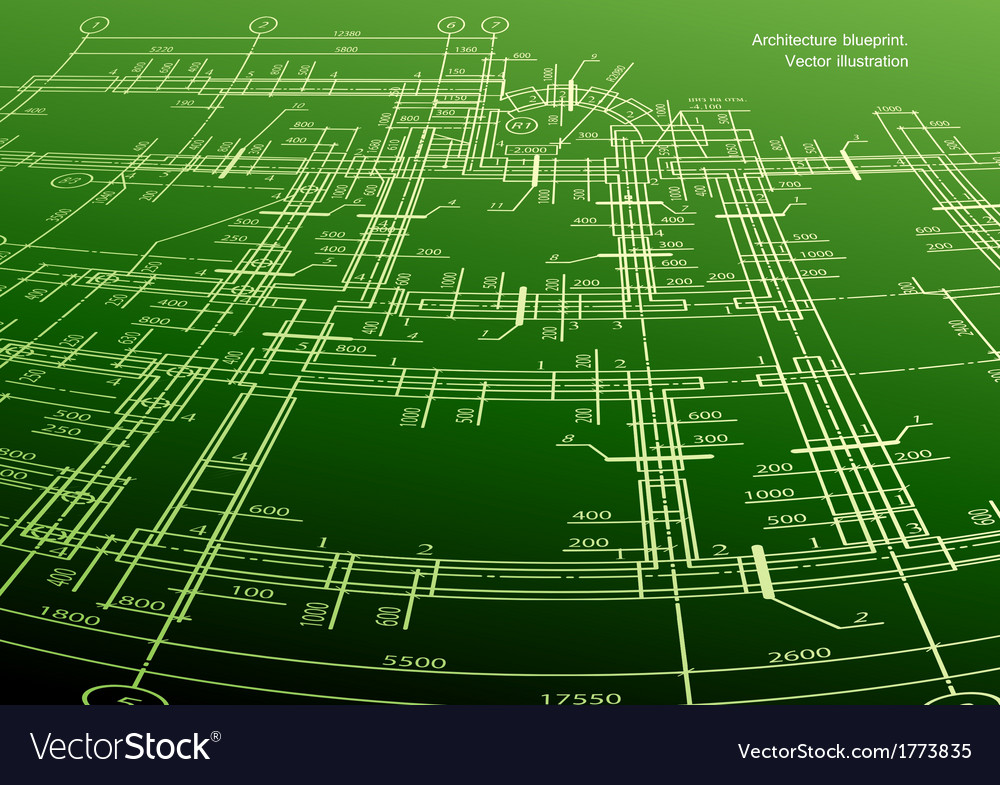Architecture house plan green background vector | Price: 1 Credit (USD $1)