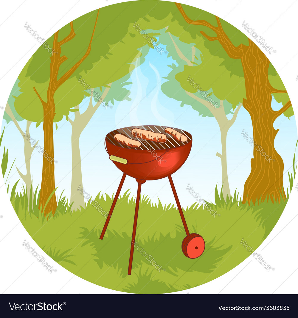 Barbecue grill eps10 vector | Price: 3 Credit (USD $3)