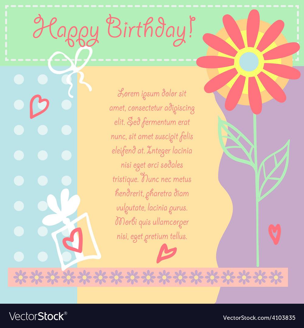 Birthday card gift card vector | Price: 1 Credit (USD $1)