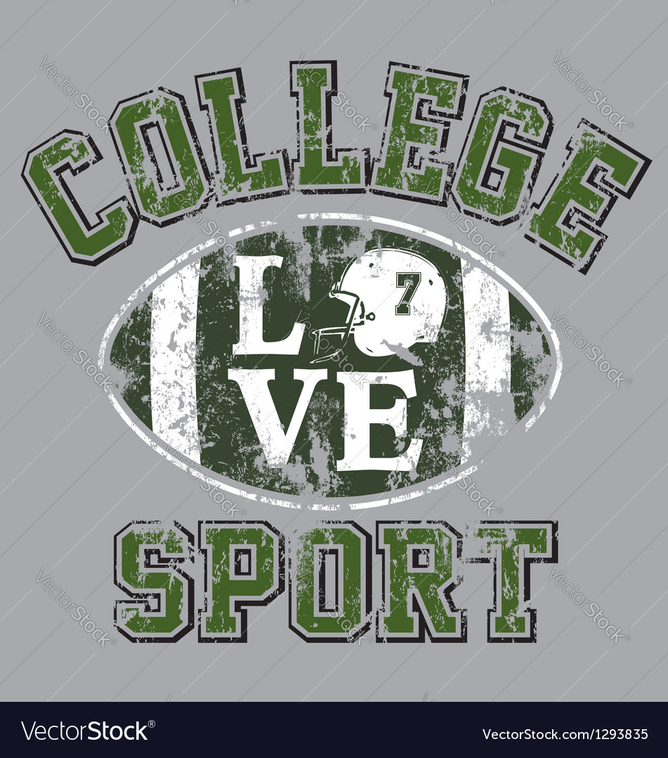 College football vector | Price: 1 Credit (USD $1)