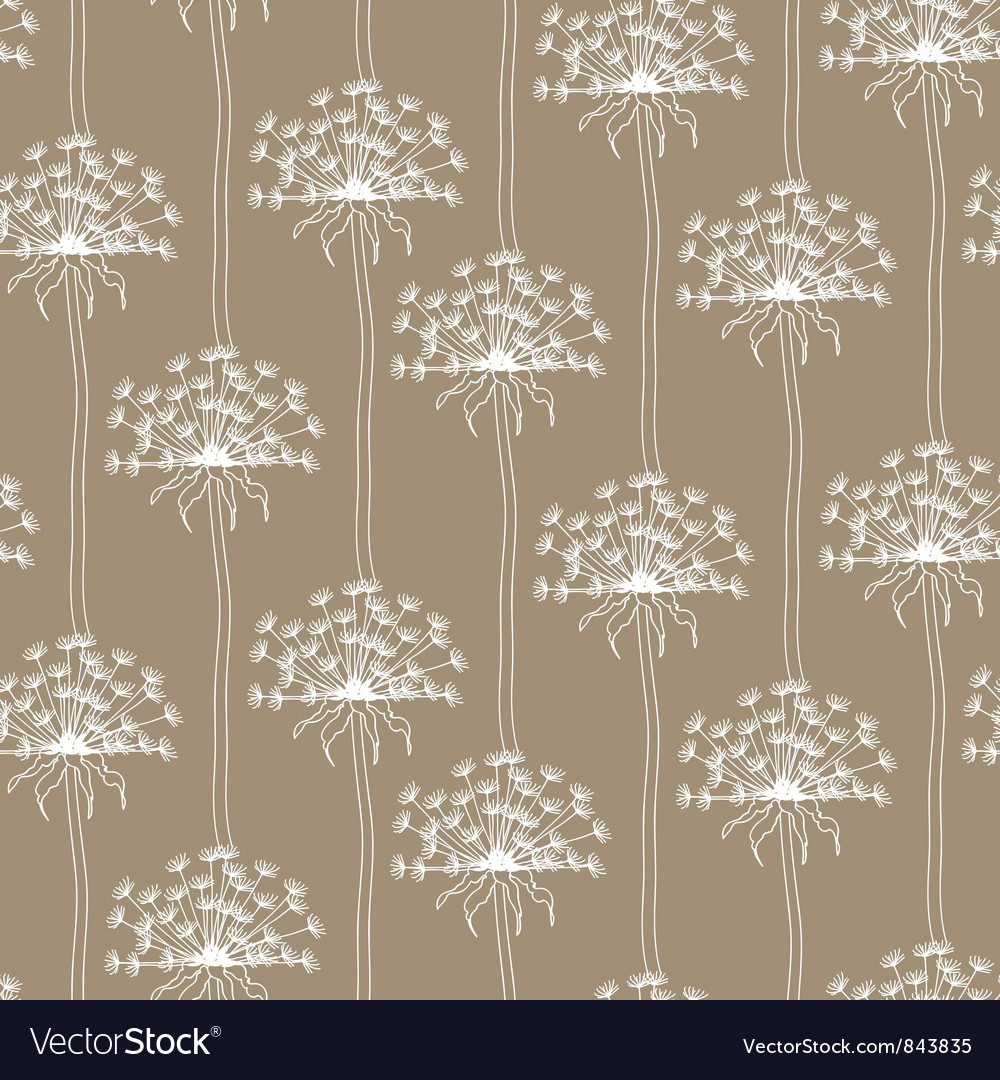 Dry dandelion flowers - abstract seamless pattern vector | Price: 1 Credit (USD $1)
