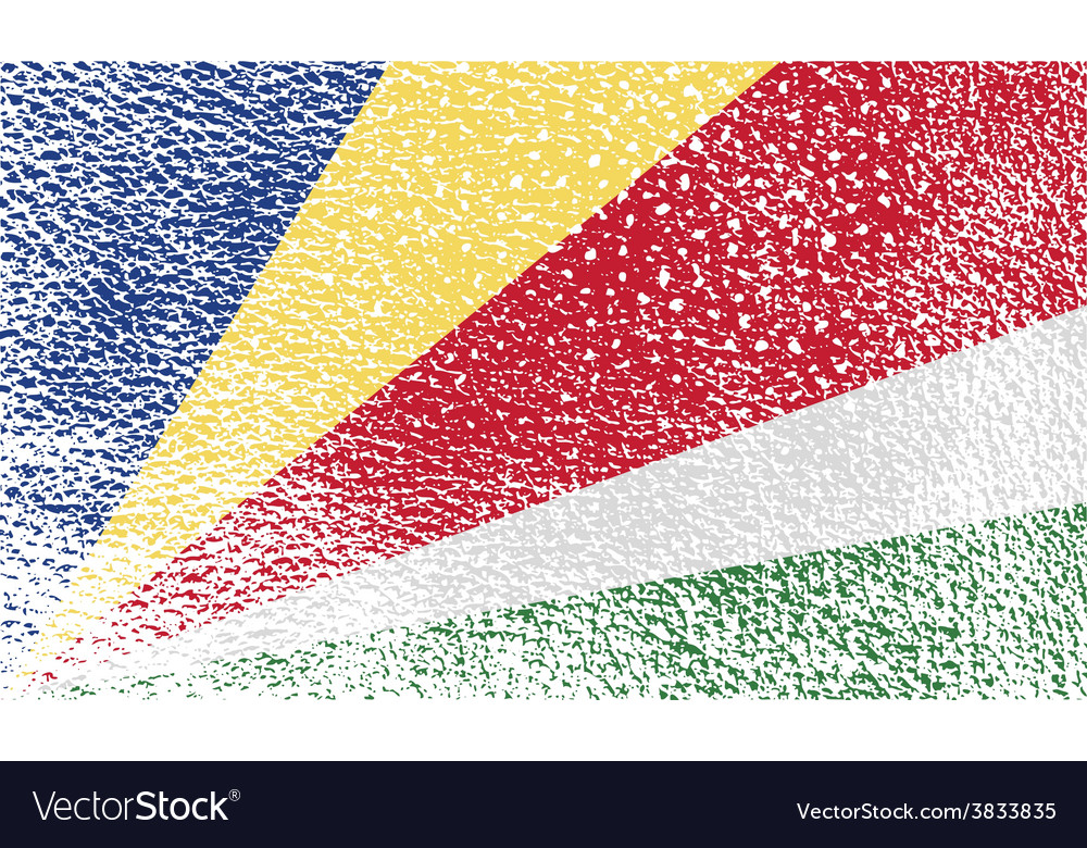 Flag of seychelles with old texture vector   Price: 1 Credit (USD $1)