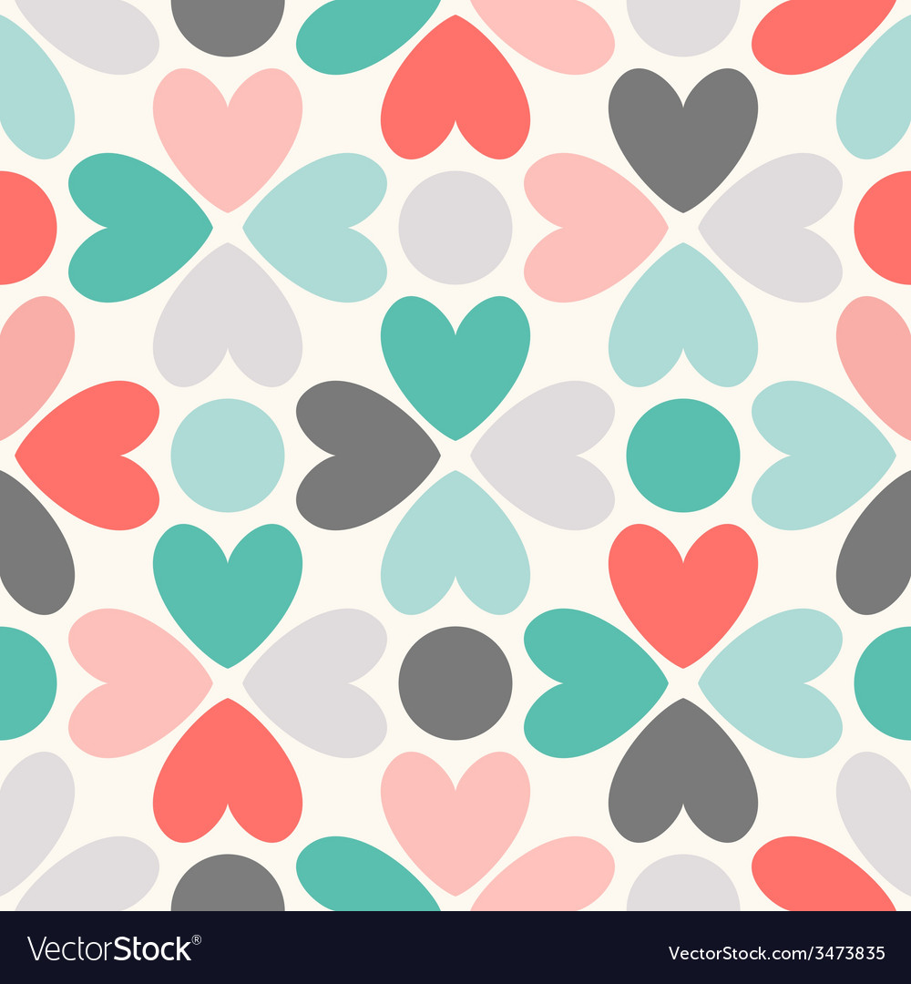Floral seamless pattern red green black and white vector | Price: 1 Credit (USD $1)
