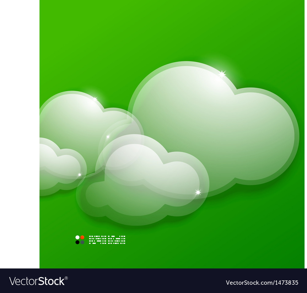 Glass 3d clouds template vector | Price: 1 Credit (USD $1)