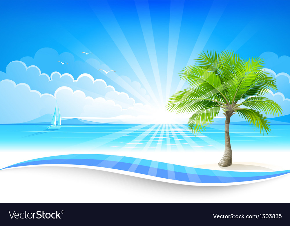 Paradise island vector | Price: 3 Credit (USD $3)