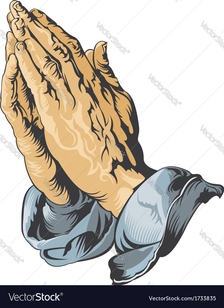 Praying hands tattoo vector | Price: 3 Credit (USD $3)
